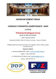 II. Bowlingový turnaj s Dopravními odbory Praha
